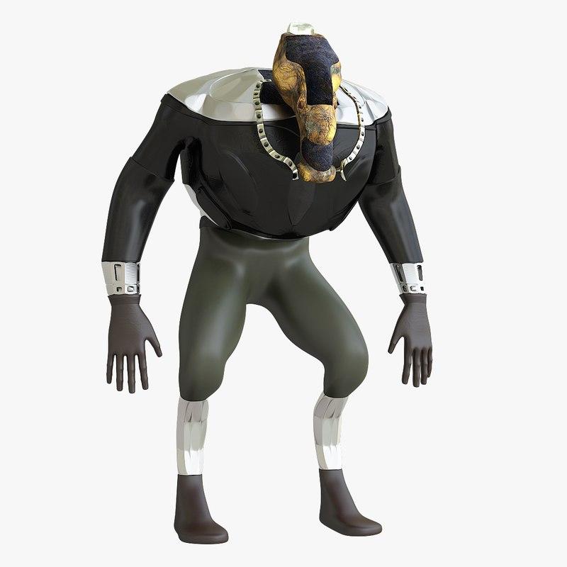 3D mutant character model