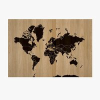 3D world wooden mapped