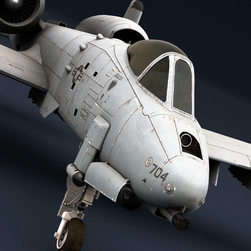 3D model a-10 thunderbolt warthog