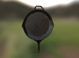 pan old rusted 3D model