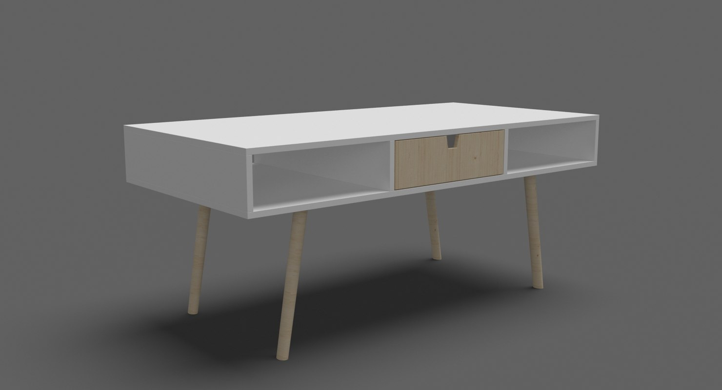 3D contemporary coffee table 05 model