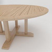 3D model arbor dining table 165
