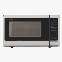 Sharp Carousel 1000w Countertop Microwave Oven With Popcorn Preset