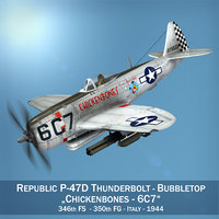 republic p-47d thunderbolt - 3D model