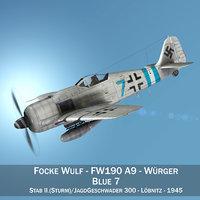 focke wulf - fw190 3D