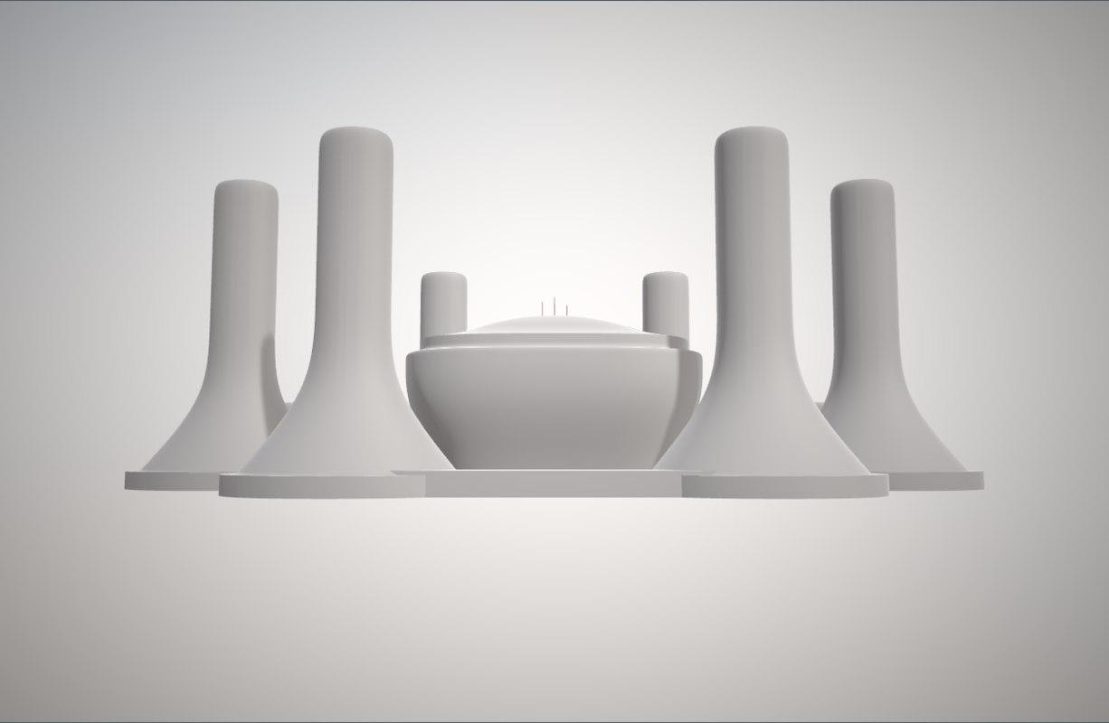 tv las noches size 3D model