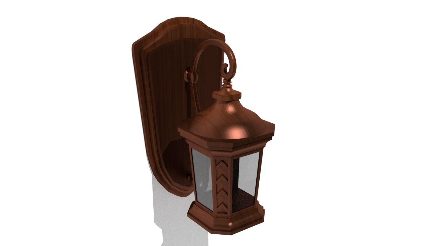 wood lamp 3D