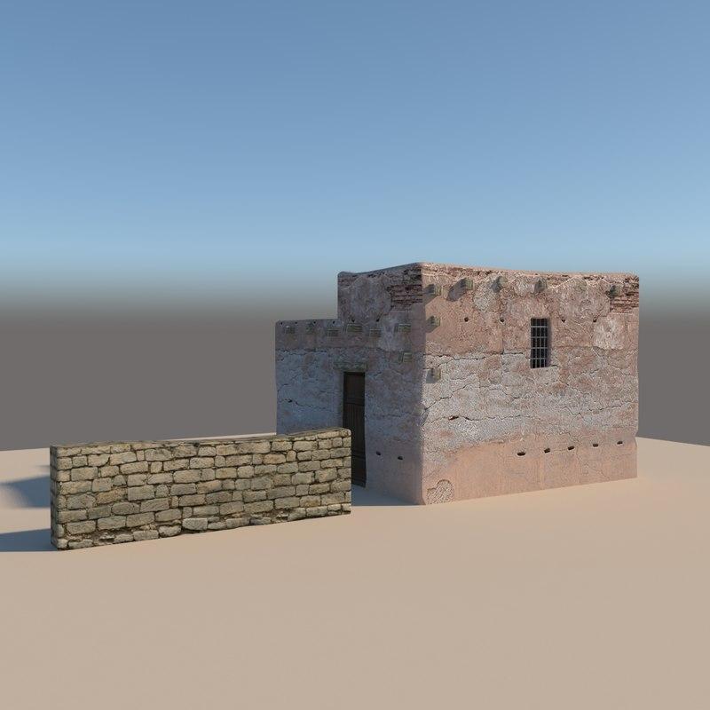 3D model old arabic house