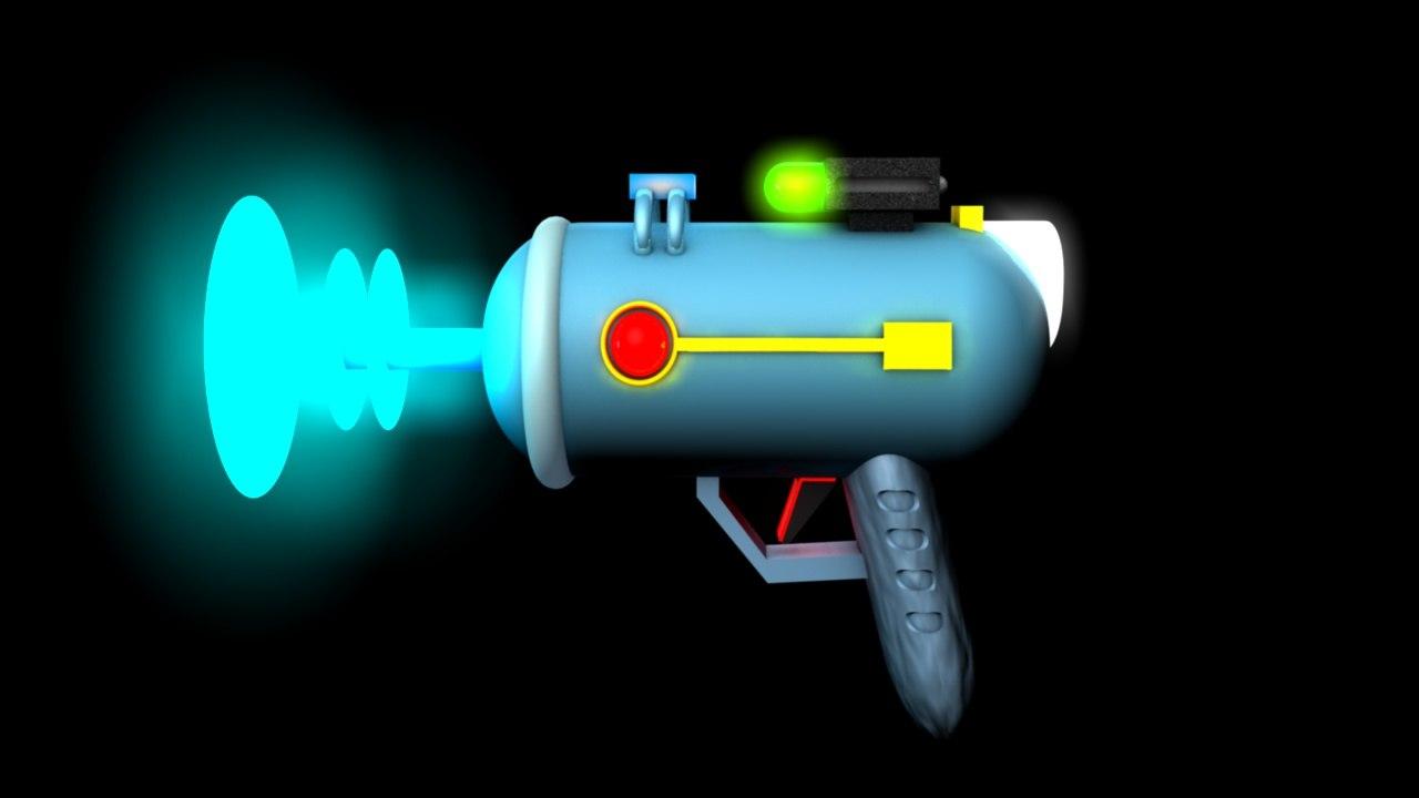 3D laser rick cartoon model