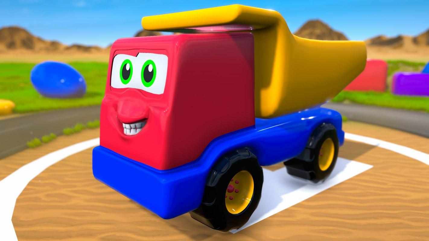 cartoon toy truck 3D model