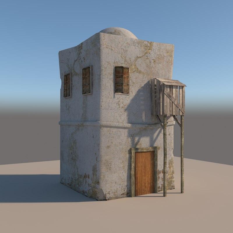 3D old arabic house