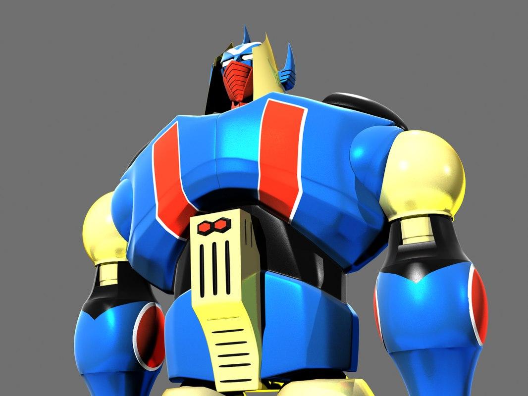 3D gakeen robot mighty model