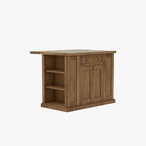 3D model cabinet oak wood