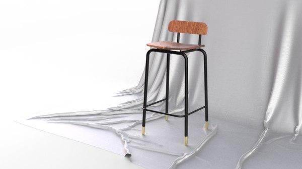 3D scandinavian design century modern