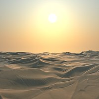 desert dunes landscape scene 3D