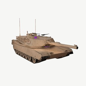 m1a1 tank australian 3D model