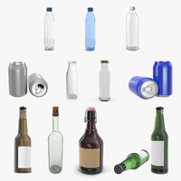Bottles 3D Models Collection 5