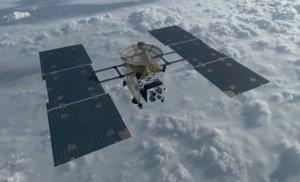 3D hayabusa space satellite model