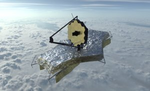 3D james webb space telescope model