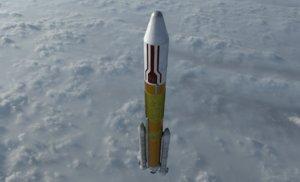 3D h-ii rocket