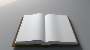 opening book 3D