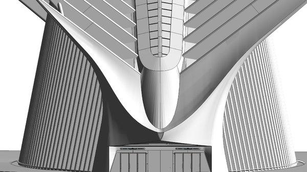 3D world trade center transportation model
