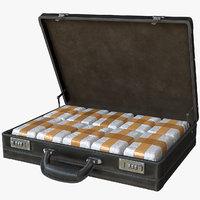 briefcase drugs 3D model