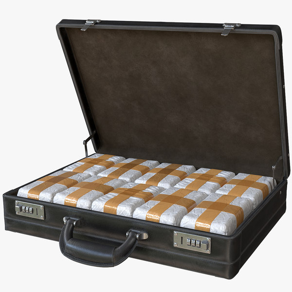 briefcase drugs 3D model