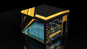 design book store 3D model