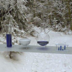3D model laboratory flask