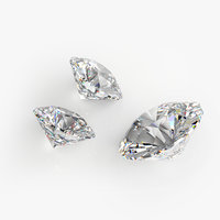 3D brilliant cut diamond model