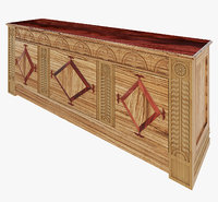 3D country style hest drawers