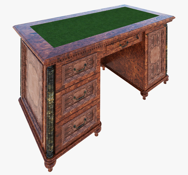 3D luxury writing table model