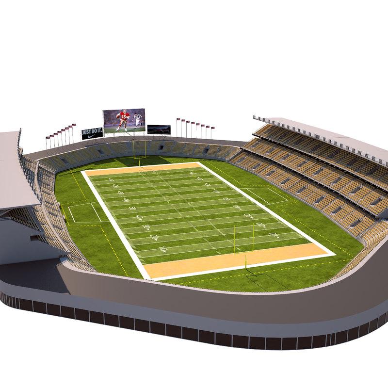 american football stadium 3D model