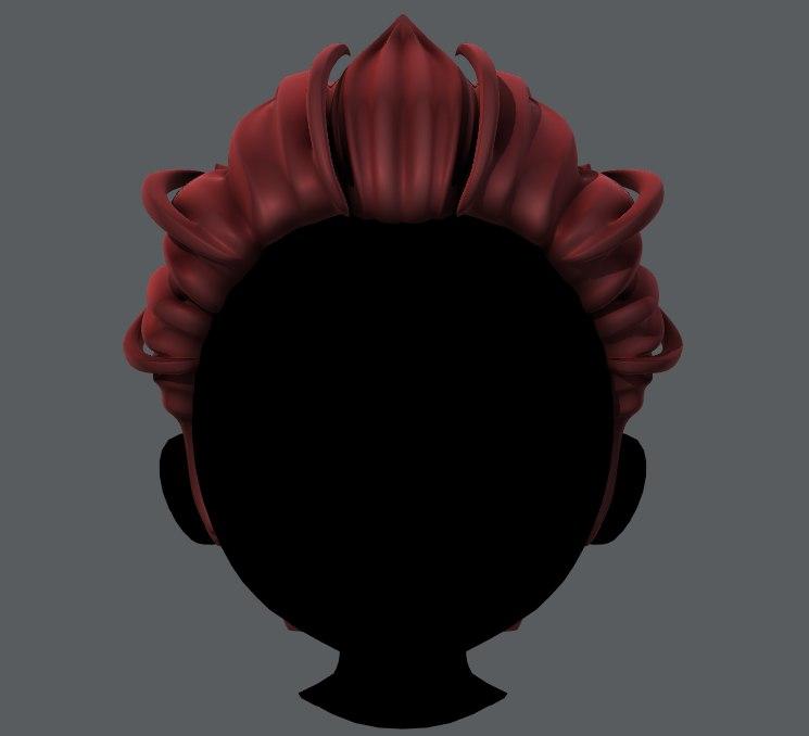 boy hair 3D model