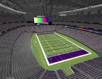 3D stadium bank minneapolis mn model