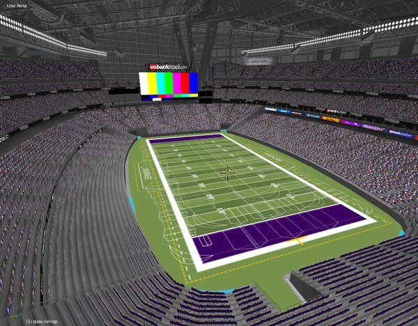 3D stadium bank minneapolis mn model