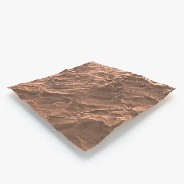 3D model desert dunes landscape scene