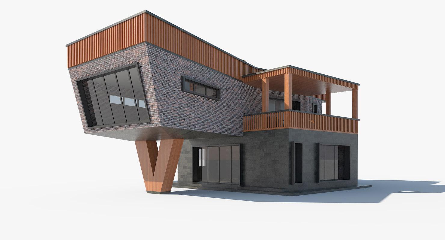 modern house roof basin 3D