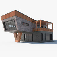 modern house roof basin 3D