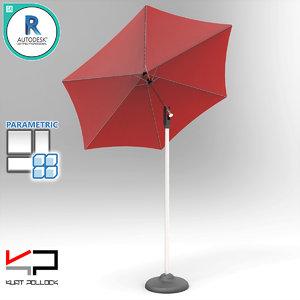 3D model table umbrella