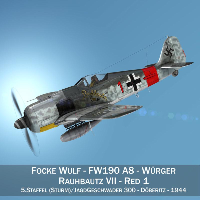 focke wulf - fw190 model