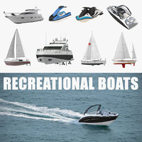 Recreational Boats 3D Models Collection 2