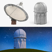 observatory radio telescope 3D model
