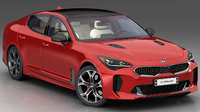 kia stinger 2018 3D model