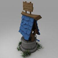 GAMING LOW POLY WATER WELL