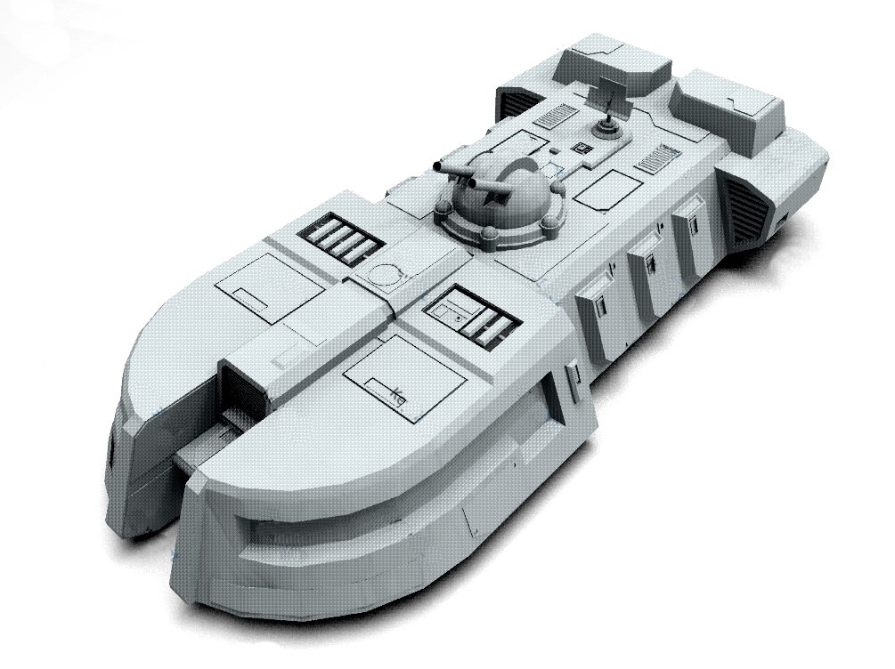 itt imperial troop transport 3D model