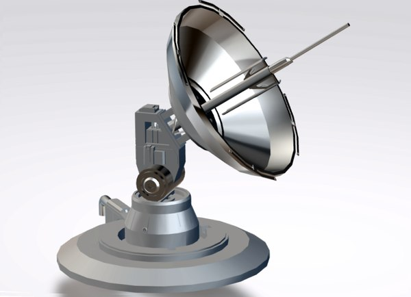 3D model sci-fi parabolic antenna level