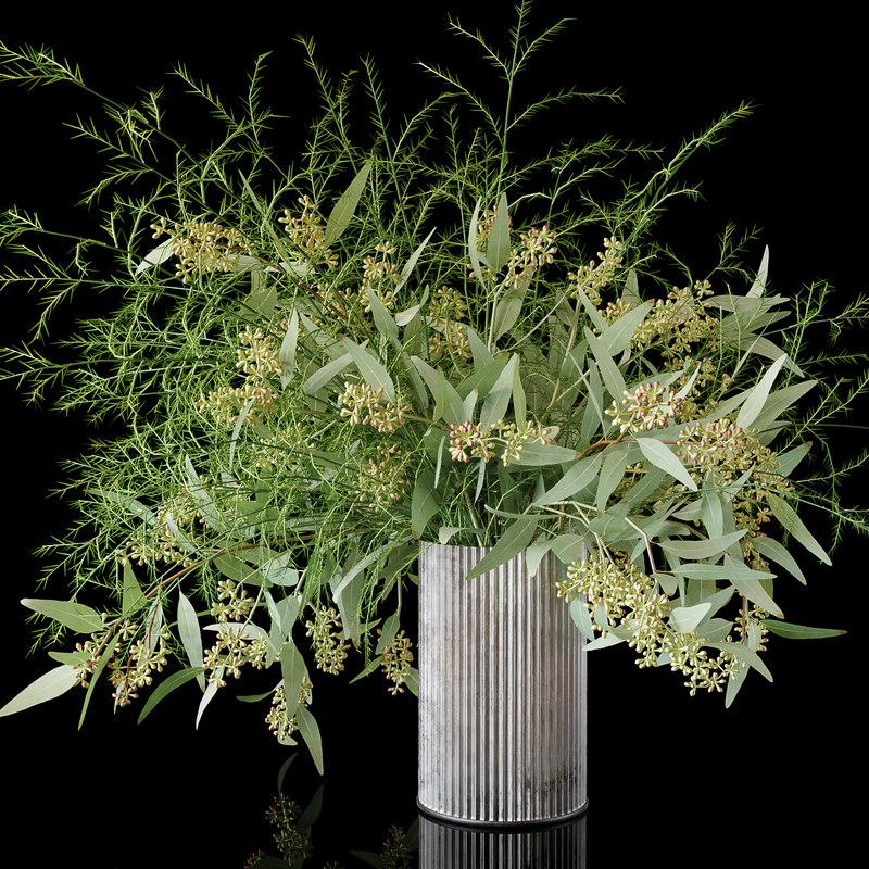 3D eucalyptus bouquet model