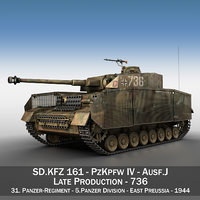 german panzer 4 ausf 3D model